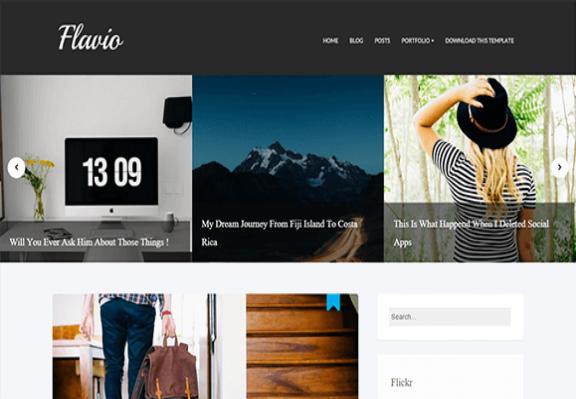 Flavio-Free Blogger Template