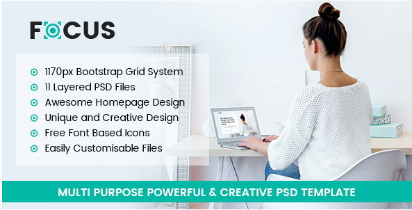 Focus - Multipurpose PSD Template