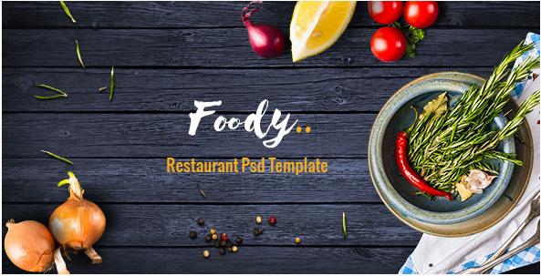 Foody - Luxury Restaurant PSD Template
