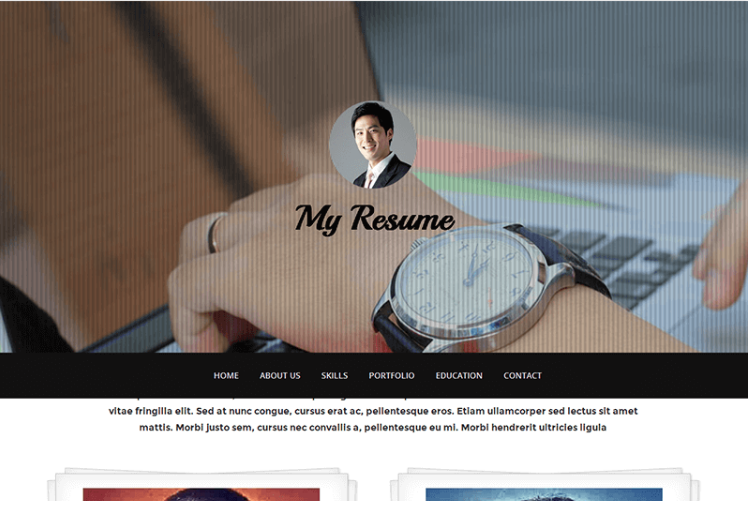 Free HTML bootstrap template – My Resume