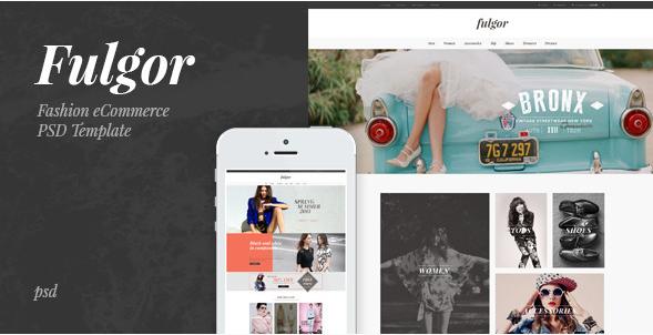 Fulgor - Fashion eCommerce PSD Template
