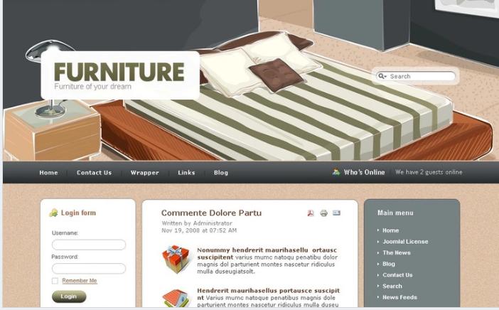 Furniture PSD Template