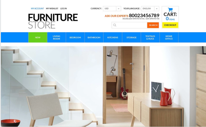 Best Furniture PSD Design Templates