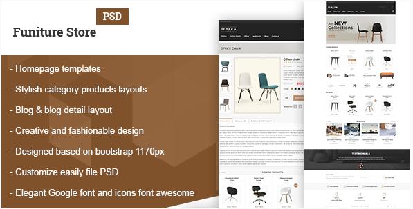 Furniture Simple Shop PSD