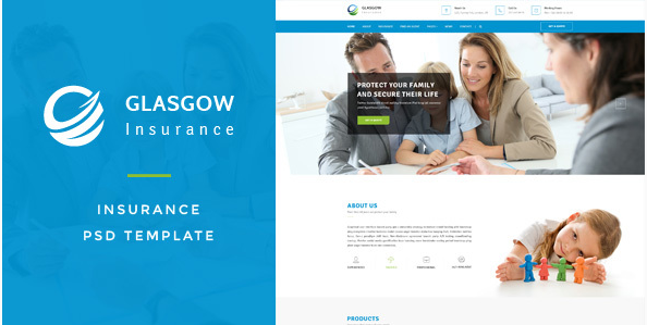 Glasgow : Insurance PSD Template