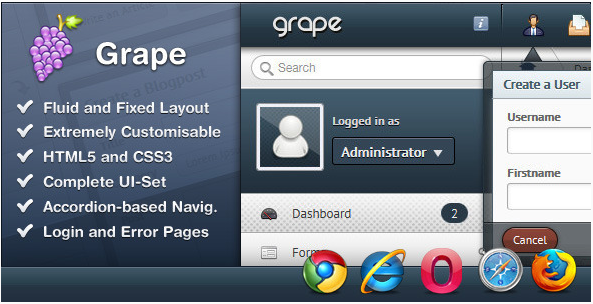 Grape – Admin Panel Templates