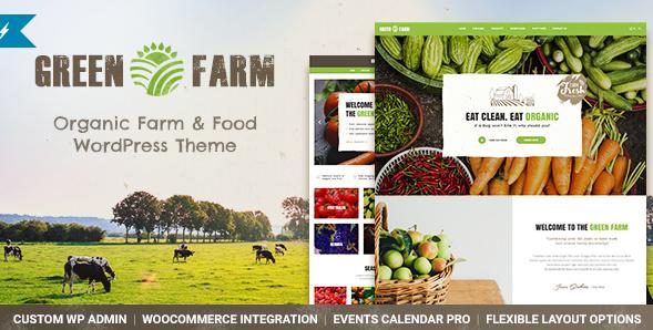 Green Farm - Organic Food Farm & Eco Food Store WordPress Theme
