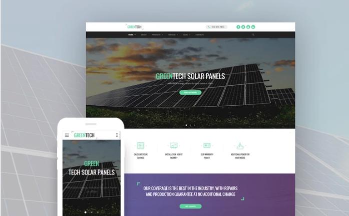 Green Tech Website Template
