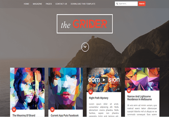 Grider-Free Blogger Template