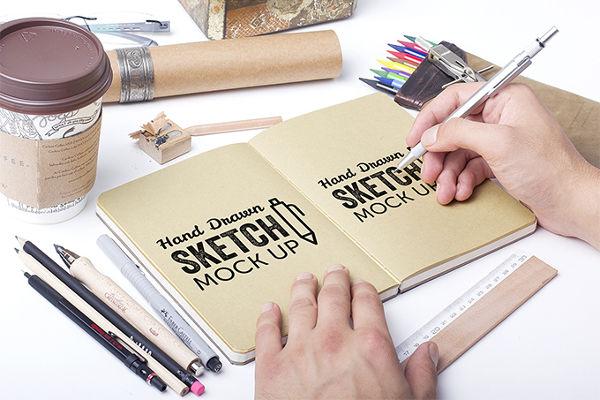 Best Free SketchBook Mockups