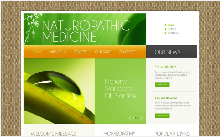 Pharmacy PSD Design Templates