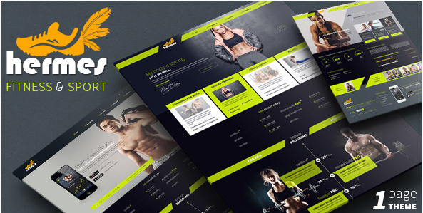 Hermes - Fitness HTML Website Templates