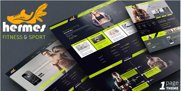 Hermes - Fitness HTML Website Templates