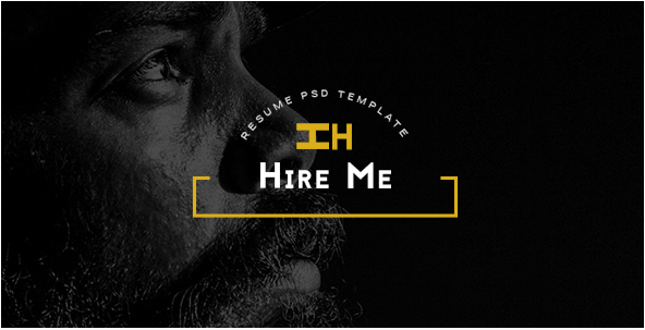 Hire Me - Personal vCard PSD Template