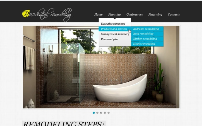 Home Remodeling PSD Template
