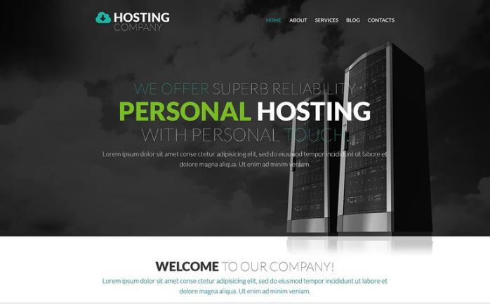 Best Hosting PSD Design Templates