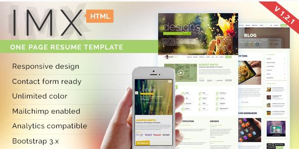 IMX - Responsive HTML5 Resume Template v1.2.1