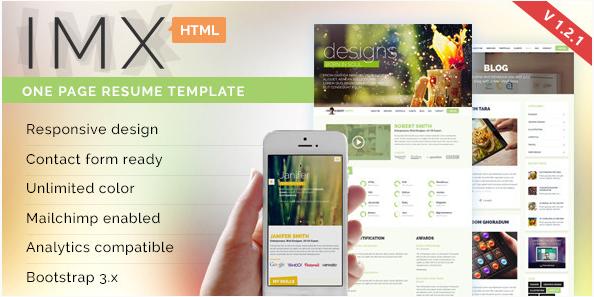 IMX - Resume Website Templates