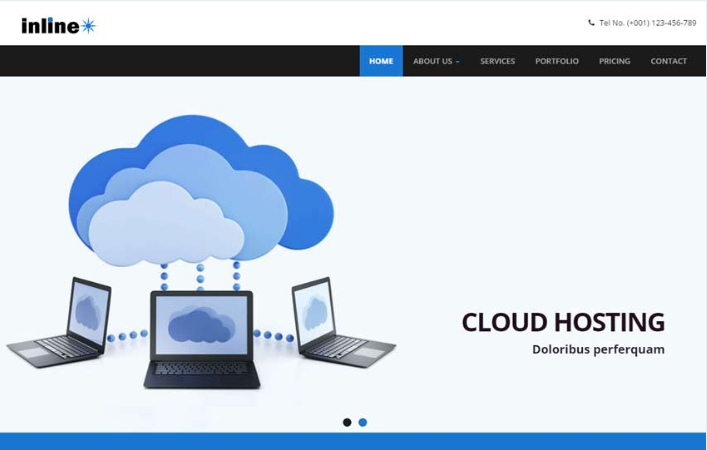 InLine Hosting Responsive HTML Web Template