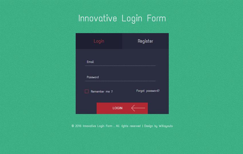 Innovative Login Form Flat Responsive Widget Template