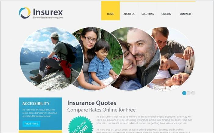 Insurance PSD Template