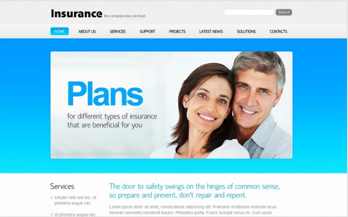 Best Insurance PSD Design Templates