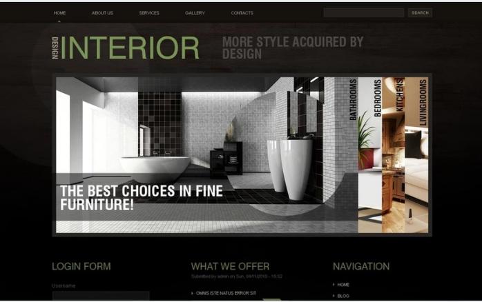 Best Interior Design PSD Design Templates
