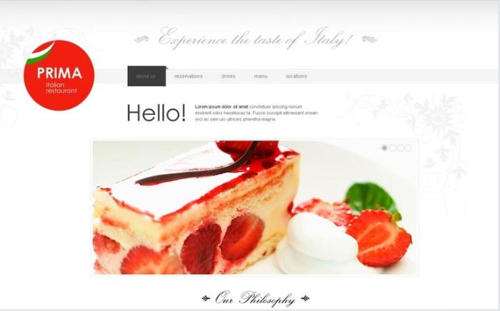 Italian Restaurant PSD Desgin Templates