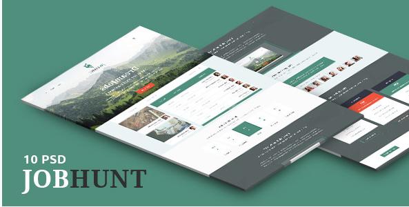 JobHunt - Elegant Job Board PSD Template