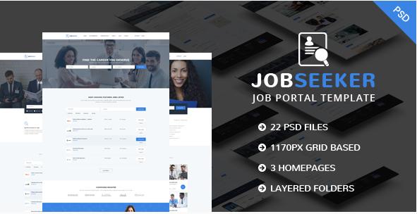 JobSeeker - Job Portal PSD Template