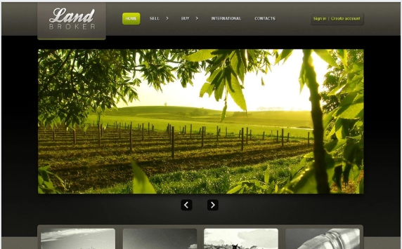 Land Broker PSD Template
