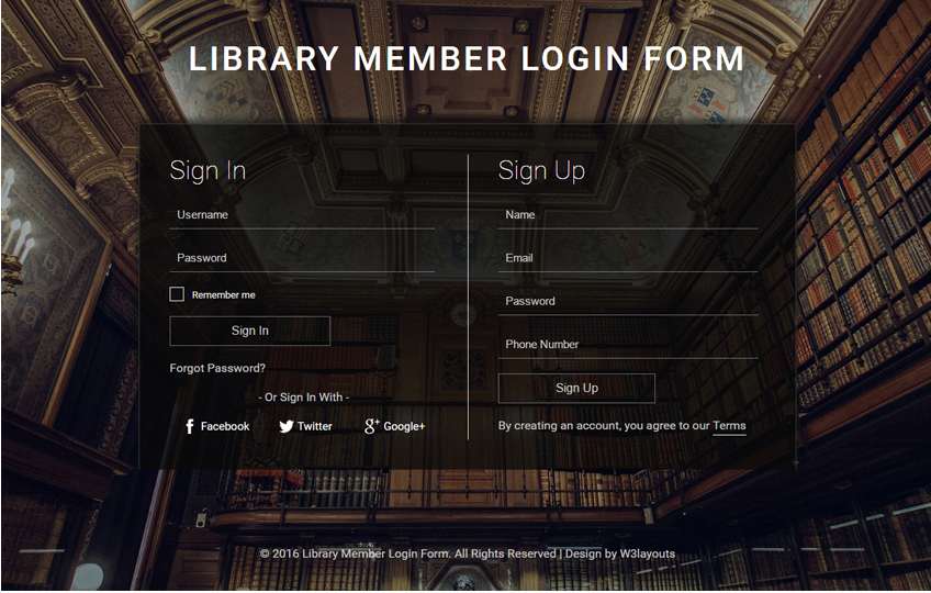 Free HTML5 Form Templates