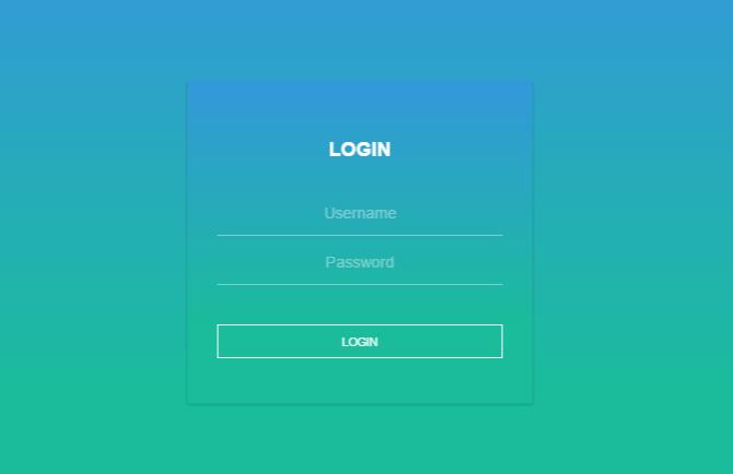 Login form animation