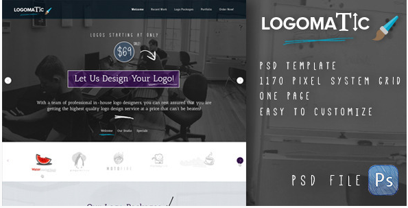Logomatic - Onepage PSD Template