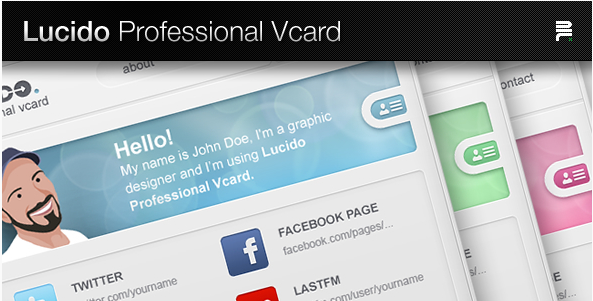 Lucido Professional Vcard