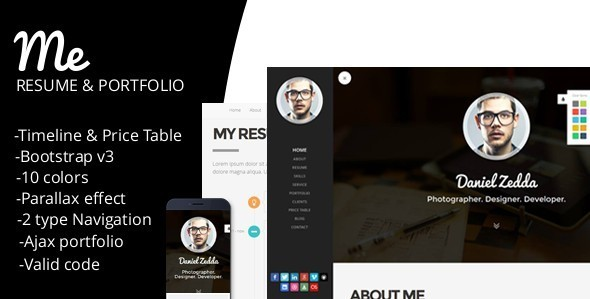 ME-Responsive Personal Resume & Portfolio Template