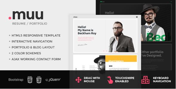 MUU -Resume Website Templates