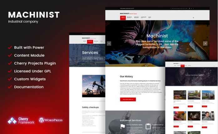 Machinist - Professional Industrial WordPress Theme