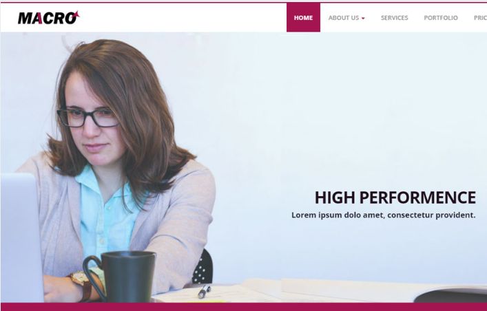 Macro Corporate Business Bootstrap HTML Web Template