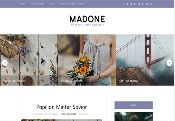 Madone-Free Blogger Template