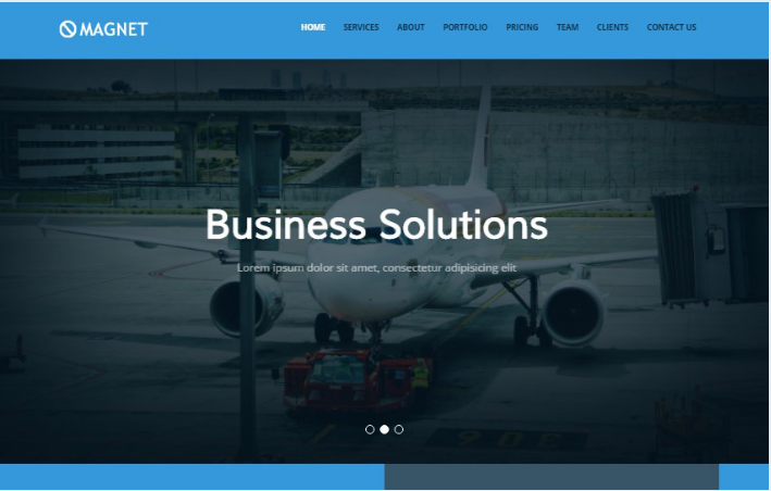 Magnet Bootstrap 4 Free Web Template