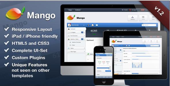 Mango – Slick & Responsive Admin Template