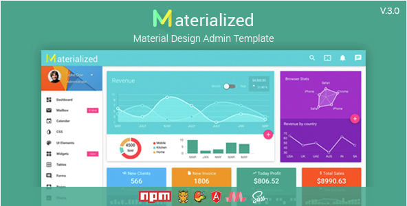 Materialize - Material Design Admin Template
