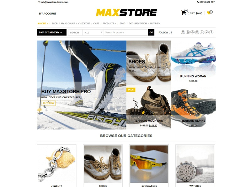 MaxStore Free WooCommerce WordPress Theme