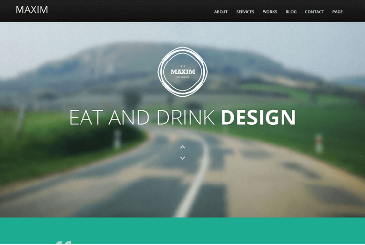 Maxim – Free Onepage Bootstrap