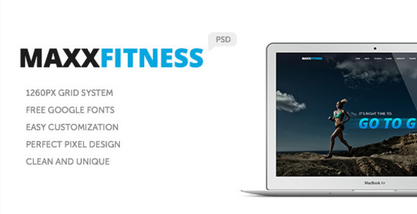 Maxx Fitness PSD Template