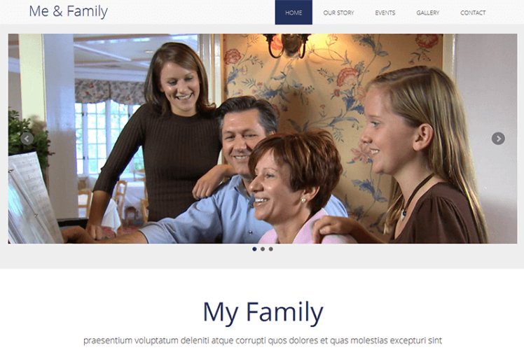 Me & Family – MultiPurpose HTML Bootstrap Template for Free