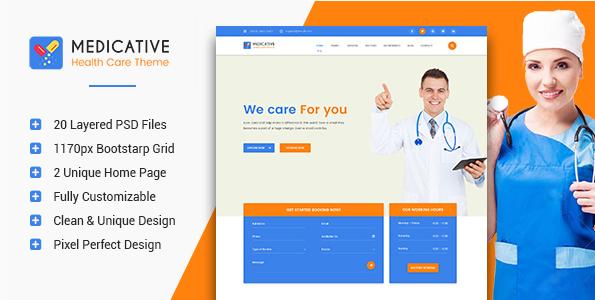 Medicative - Medical & Health PSD Template