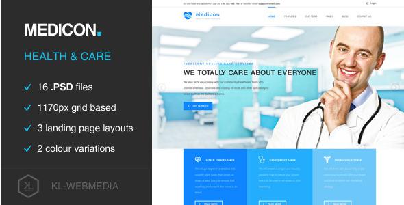 Medicon - Health Care PSD Template