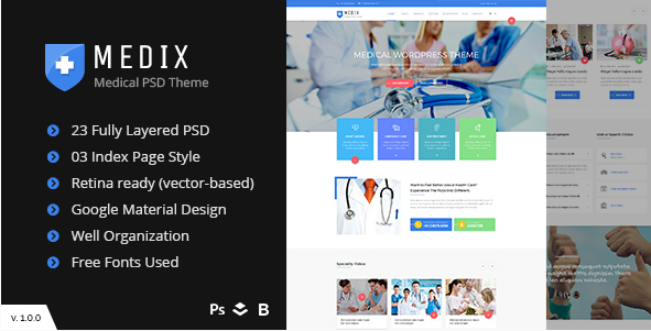 Medix - Medical, Doctor and Health Care PSD Template